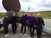 Group at Lyness with propellor from HMS Hampshire